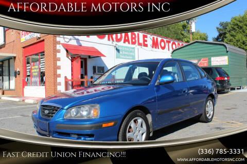 2005 Hyundai Elantra for sale at AFFORDABLE MOTORS INC in Winston Salem NC