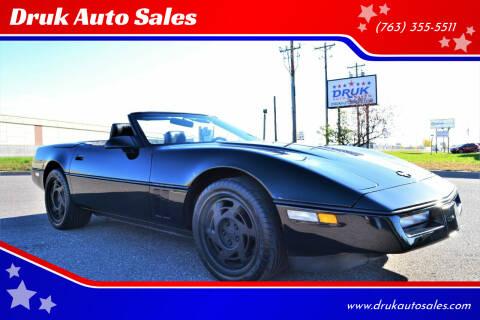 1990 Chevrolet Corvette for sale at Druk Auto Sales in Ramsey MN