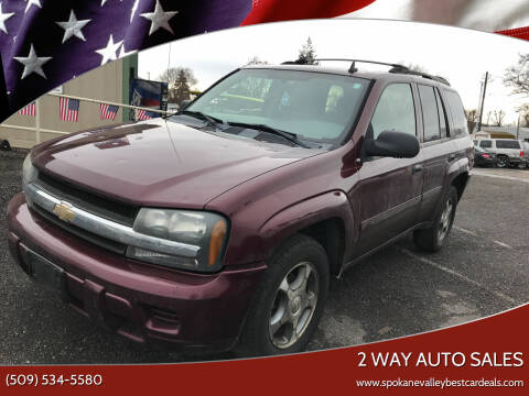2007 Chevrolet TrailBlazer for sale at 2 Way Auto Sales in Spokane Valley WA