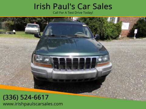 2000 Jeep Grand Cherokee for sale at Irish Paul's Car Sales in Burlington NC