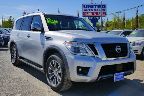 2019 Nissan Armada for sale at United Auto Sales in Anchorage AK
