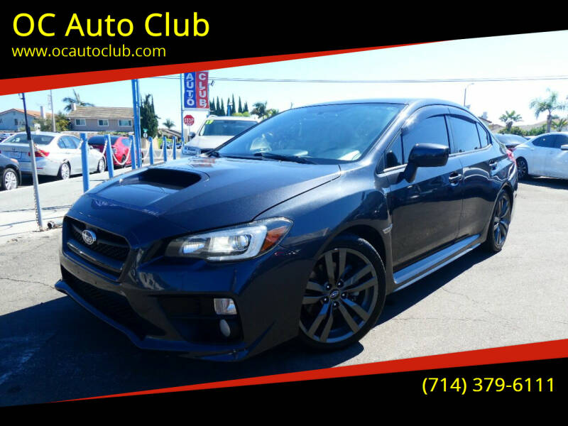 2016 Subaru WRX for sale at OC Auto Club in Midway City CA