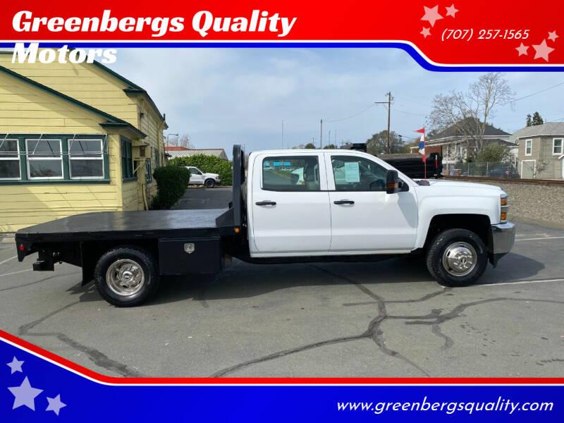 2017 Chevrolet Silverado 3500HD CC for sale at Greenbergs Quality Motors in Napa CA