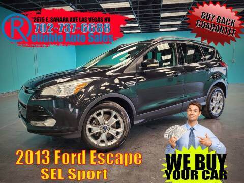 2013 Ford Escape for sale at Reliable Auto Sales in Las Vegas NV