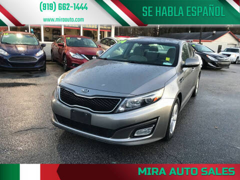 2014 Kia Optima for sale at Mira Auto Sales in Raleigh NC