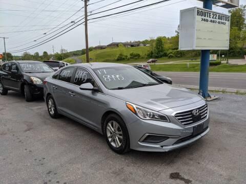 2017 Hyundai Sonata for sale at Route 22 Autos in Zanesville OH