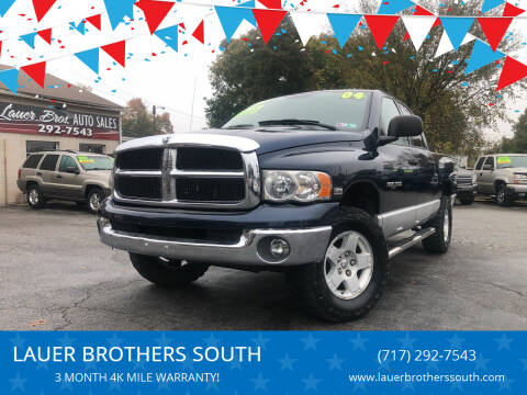 2004 Dodge Ram Pickup 1500 for sale at LAUER BROTHERS SOUTH in York PA