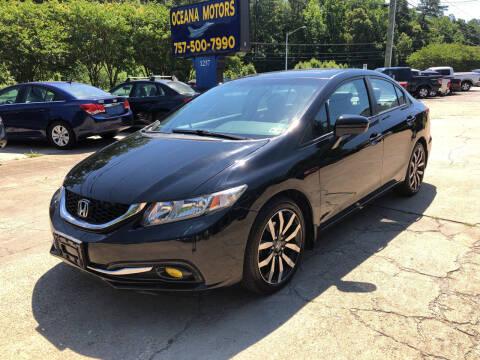 2015 Honda Civic for sale at Oceana Motors in Virginia Beach VA