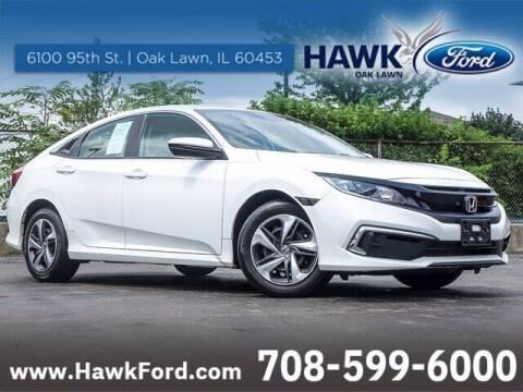 2020 Honda Civic for sale at Hawk Ford of Oak Lawn in Oak Lawn IL