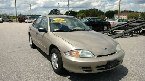 2002 Chevrolet Cavalier for sale at Kelly & Kelly Supermarket of Cars in Fayetteville NC