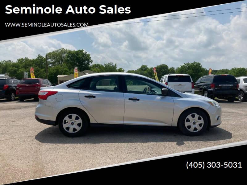 2013 Ford Focus for sale at Seminole Auto Sales in Seminole OK