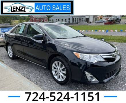 2012 Toyota Camry for sale at LENZI AUTO SALES in Sarver PA