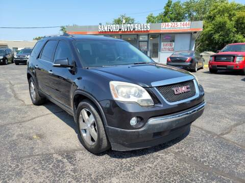 2010 GMC Acadia for sale at Samford Auto Sales in Riverview MI