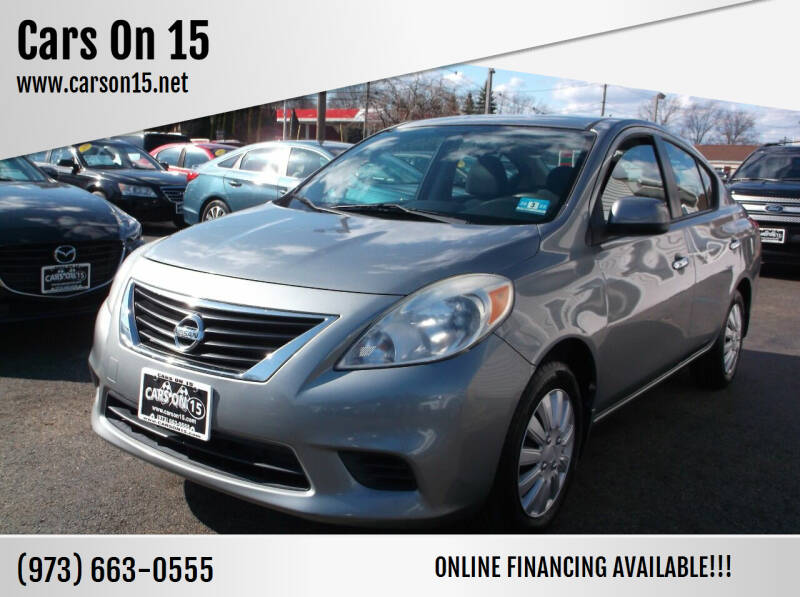 2012 Nissan Versa for sale at Cars On 15 in Lake Hopatcong NJ