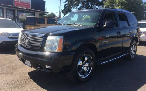 2003 Cadillac Escalade for sale at Universal Auto INC in Salem OR