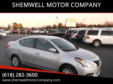 2017 Nissan Versa for sale at SHEMWELL MOTOR COMPANY in Red Bud IL
