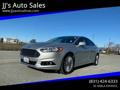 2016 Ford Fusion for sale at JJ's Auto Sales in Salinas CA