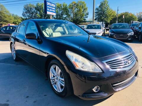 2013 Infiniti G37 Sedan for sale at Capital Motors in Raleigh NC