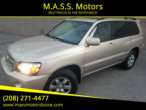 2006 Toyota Highlander for sale at M.A.S.S. Motors in Boise ID