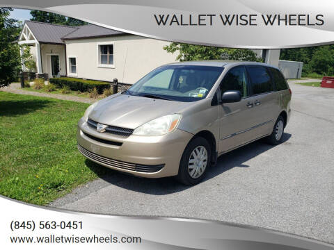 2004 Toyota Sienna for sale at Wallet Wise Wheels in Montgomery NY