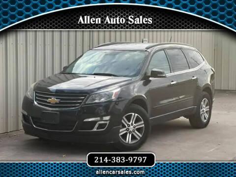 2015 Chevrolet Traverse for sale at Allen Auto Sales in Dallas TX