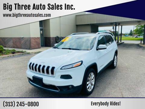 2014 Jeep Cherokee for sale at Big Three Auto Sales Inc. in Detroit MI