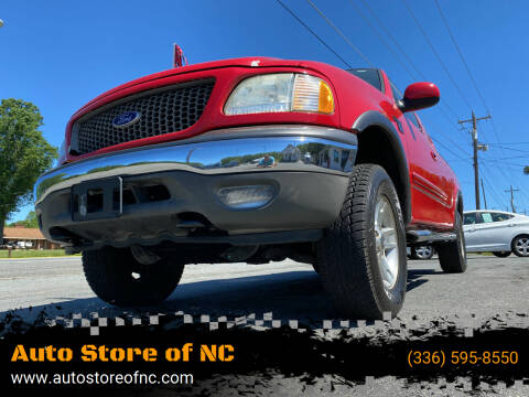 2003 Ford F-150 for sale at Auto Store of NC in Walkertown NC