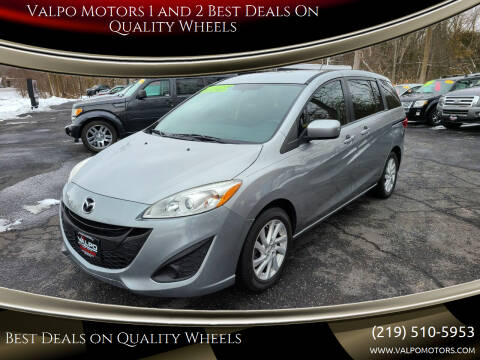 2012 Mazda MAZDA5 for sale at Valpo Motors Inc. in Valparaiso IN