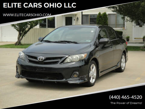 2012 Toyota Corolla for sale at ELITE CARS OHIO LLC in Solon OH