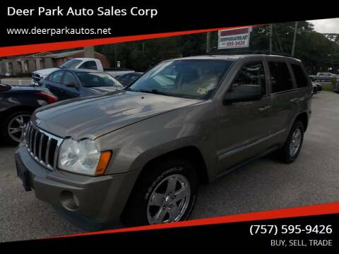 2006 Jeep Grand Cherokee for sale at Deer Park Auto Sales Corp in Newport News VA