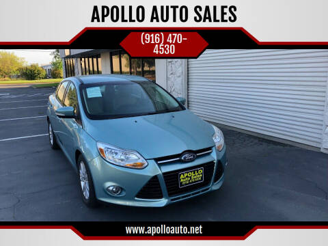 2012 Ford Focus for sale at APOLLO AUTO SALES in Sacramento CA