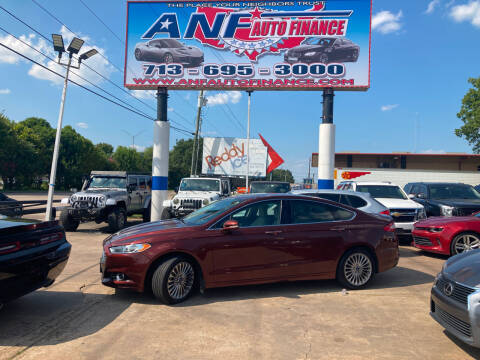 2015 Ford Fusion for sale at ANF AUTO FINANCE in Houston TX