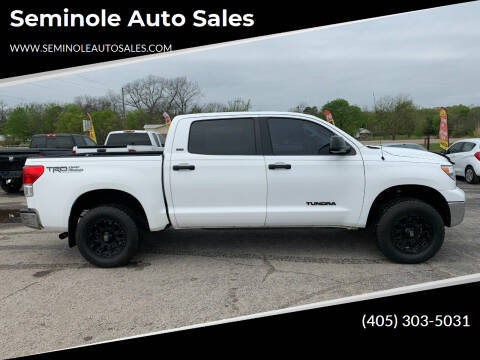 2011 Toyota Tundra for sale at Seminole Auto Sales in Seminole OK