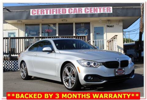 2016 BMW 4 Series for sale at CERTIFIED CAR CENTER in Fairfax VA