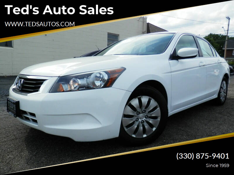 2009 Honda Accord for sale at Ted's Auto Sales in Louisville OH