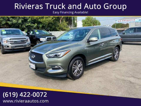2017 Infiniti QX60 for sale at Rivieras Truck and Auto Group in Chula Vista CA
