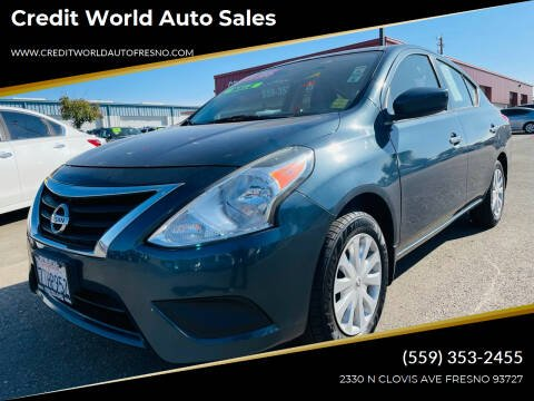 2016 Nissan Versa for sale at Credit World Auto Sales in Fresno CA