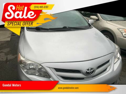 2012 Toyota Corolla for sale at Gondal Motors in West Hempstead NY