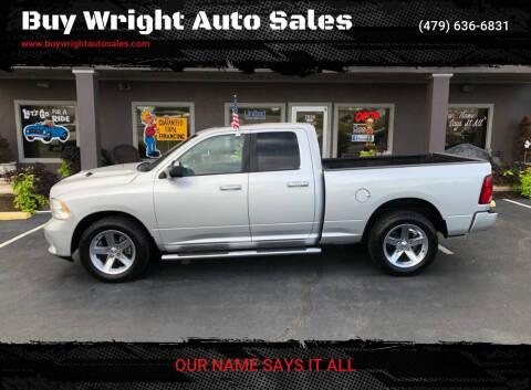 2012 RAM Ram Pickup 1500 for sale at Buy Wright Auto Sales in Rogers AR