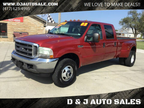 2003 Ford F-350 Super Duty for sale at D & J AUTO SALES in Joplin MO