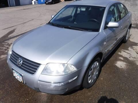 2003 Volkswagen Passat for sale at J & K Auto - J and K in Saint Bonifacius MN