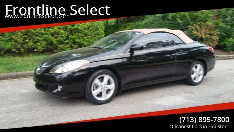 2006 Toyota Camry Solara for sale at Frontline Select in Houston TX