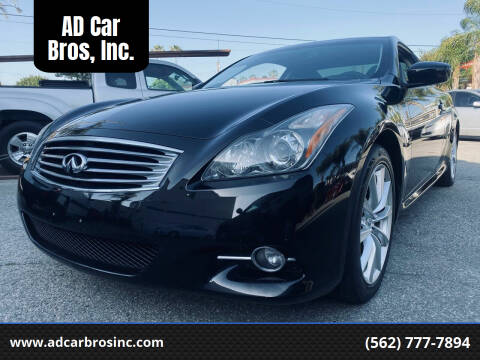 2011 Infiniti G37 Coupe for sale at AD Car Bros, Inc. in Whittier CA