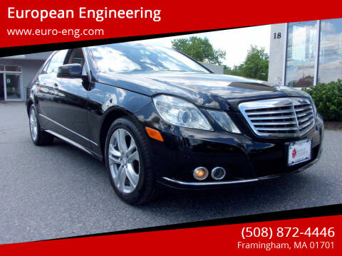 2010 Mercedes-Benz E-Class for sale at European Engineering in Framingham MA