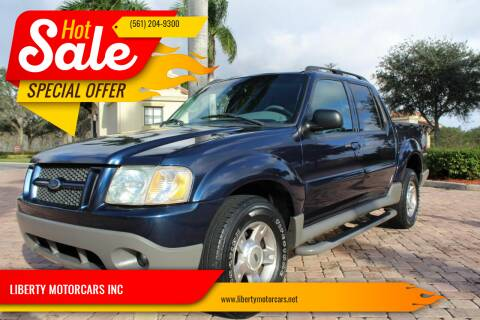 2003 Ford Explorer Sport Trac for sale at LIBERTY MOTORCARS INC in Royal Palm Beach FL