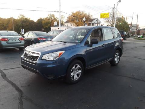 2014 Subaru Forester for sale at Sarchione INC in Alliance OH
