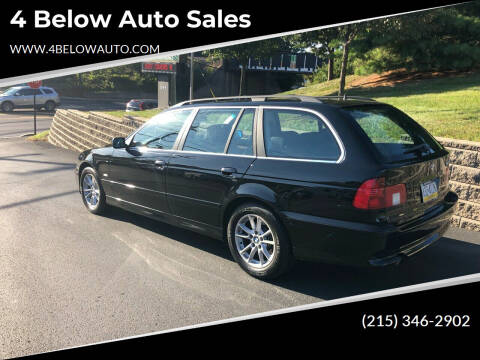 2003 BMW 5 Series for sale at 4 Below Auto Sales in Willow Grove PA
