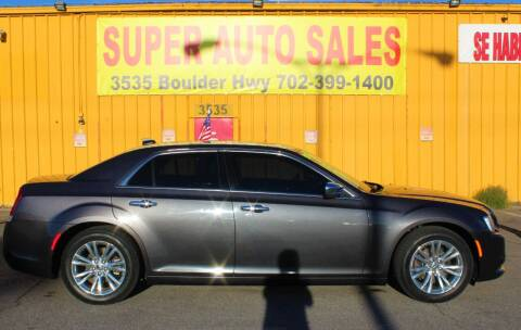 2015 Chrysler 300 for sale at Super Auto Sales in Las Vegas NV