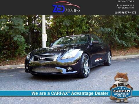 2011 Infiniti G37 Convertible for sale at Zed Motors in Raleigh NC