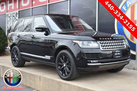 2017 Land Rover Range Rover for sale at Alfa Romeo & Fiat of Strongsville in Strongsville OH